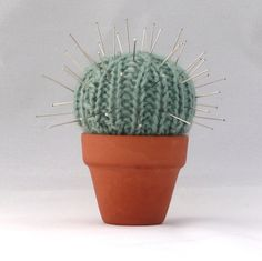Quick and Easy Cactus Pin Cushion - INSTANT DOWNLOAD PDF Knitting Pattern. $2.75, via Etsy.