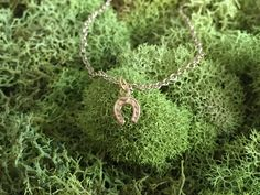 LUCKY charm necklaces >> so lucky it deflects bullets (it doesn't).    Tiny horseshoe necklace | LilahV