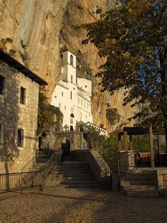 Ostrog Monastery    The monastery was carved into the face of the mountain in the 17th century