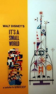 it's a small world from the 1964 World's Fair and Rolly Crump's Tower of the Four Winds Disney Ideas, Disney Disney, Disney Stuff, Disney Love, Disney Parks, Vintage Disneyland, Disneyland Park, Disney Fast Pass, Retro Illustrations