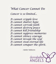 What Cancer Cannot Do Poetry #Cancer