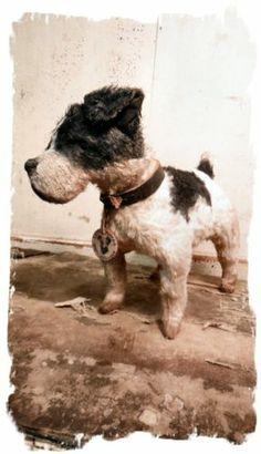 Antique Style ★Hubley FOX TERRIER DOG vintage★ Whendi Bears