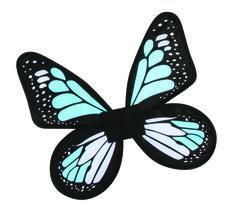 Wings Butterfly Satin Ch Blue/