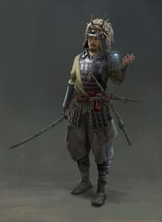 Warrior by SiChen Wang Character Concept, Character Art, Character Design, Concept Art, New Fantasy, High Fantasy, Chinese Armor, Advanced Dungeons And Dragons, Samurai Artwork