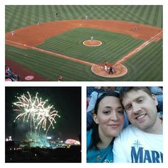 nadixm. Celebrating Trae's birthday and supporting our #seattlemariners. We got to see #kingfelix and #robinsoncano and the game was close til the very end #gomariners  When they heard it was Trae's birthday they put on a grand fireworks show ;) ! Click like or share.