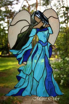 Disney Stained Glass, Stained Glass Angel, Stained Glass Christmas, Stained Glass Suncatchers, Faux Stained Glass, Stained Glass Designs, Stained Glass Projects, Stained Glass Patterns, Stained Glass Windows