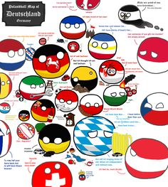 Polandball Map of Germany | Polandballs Countryballs
