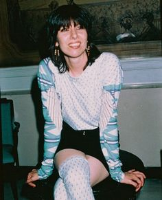 Chrissie Hynde, unexpectedly girlish and adorable. Mid-80s. #music #icons #80s