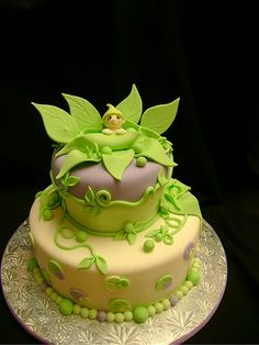 Peapod cake! Would be super cute to make a tinkerbell cake for V