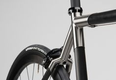 Firefly Ti-Carbon Monostay Front by fireflybicycles, via Flickr