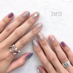 Winter / All Season / Office / Party / Hand-Spartir Ne . August Nails, Self Nail, Subtle Nails, Nail Art Techniques, Office Parties, Holiday Nails, Mani Pedi, Nail Inspo, Nail Arts
