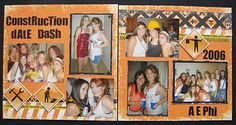 Scissors and Scraps: Construction Themed Date Dash and Scrapbook Layout Kids Scrapbook, Scrapbook Layouts, Scrapbooking, Construction Birthday, Scissors, Stampin Up, Dating, Crafty, Baseball Cards