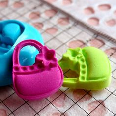 Handbag Mold w/ Flower 18mm Silicone Flexible Mold Cupcake Topper Kawaii Jewelry Charms Cabochon Mold Fimo Mold Polymer Clay Resin Push Mold. $4.95, via Etsy.
