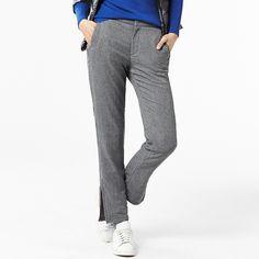 WOMEN Warm Lined Slim Fit Stretch Pants