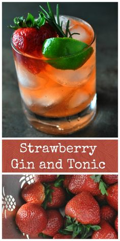 **Gin and tonic love** Strawberry Gin and Tonic