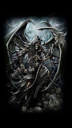 New gothic wallpaper dark fantasy grim reaper ideas Death Reaper, Grim Reaper Art, Grim Reaper Tattoo, Don't Fear The Reaper, Gothic Wallpaper, Skull Wallpaper, Totenkopf Tattoos, Skull Pictures, Sugar Skull Art