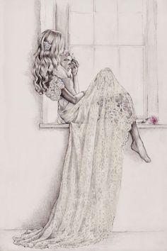 """Adiós, bellos recuerdos del pasado, las rosas de mis alegrías están marchitas y el amor de Alfredo todavía me falta. ¡Consuelo, sostén del alma cansada! compadécete del deseo de la extraviada. Giuseppe Verdi [fragmento: """"La traviata-Addio del passato""""] Fotografía por Anna Campbell"""
