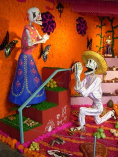 """Please...please....say """"yes"""".... Day Of Death, Mexico Day Of The Dead, Day Of The Dead Party, All Souls Day, Halloween Yard Decorations, Sugar Skull Art, Mexican Art, Holidays Halloween, Altered Art"""