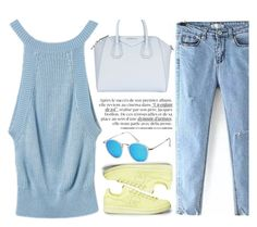 """""""Soft Look"""" by genuine-people ❤ liked on Polyvore featuring Givenchy and Blue"""