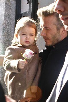 David Beckham Photo - David Beckham Holds Harper