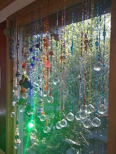 These hanging #suncatchers were made very quickly and easily with a #Beading tool invention by artist Denise Stevens. Listen now as she shares her story with inspiring people radio http://www.eozy.com/acrylic-beads-charms