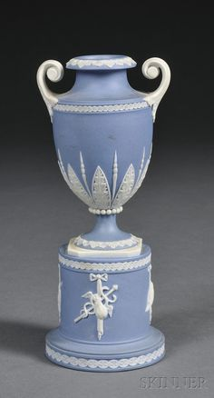 Wedgwood Solid Blue Jasper Urn on Stand, England, late 18th century