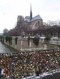 Frank and I will put locks lovers lock bridge in paris - Google Search