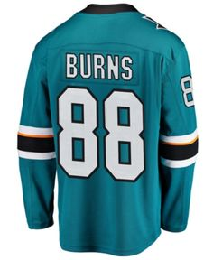 3bcdd0f6c Fanatics Men s Brent Burns San Jose Sharks Breakaway Player Jersey - Teal  Black S