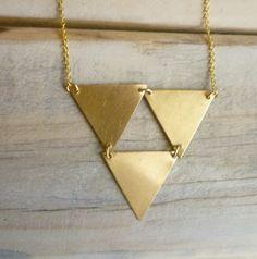 Triangle Geometric Necklace
