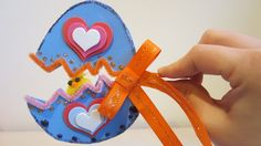 Hatching Easter egg art craft