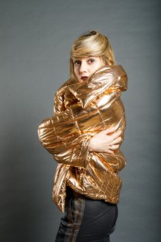 Dip Dye, Copper, Metal, Fabric, Collection, Women, Fashion, Tejido, Moda