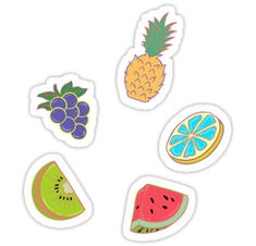 'Red Flavor Fruits' Sticker by MarmaladePeanut Tumblr Stickers, Cute Stickers, Fruit Clipart, Kpop Logos, Cute Bedroom Decor, Homemade Stickers, Topper, Aesthetic Stickers, Cute Chibi