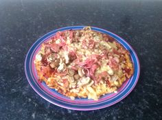 Cauliflower base pizza