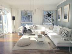 Weiß vermittelt Klarheit, Reinheit, Frische - probiert mal aus, was das Leben in Weiß für eine Wirkung auf euch hat! #white #interior #livingroom