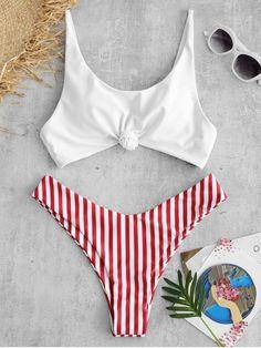 Shop trendy fashion swimwear online, you can get sexy bikinis, swimsuits & bathing suits for women on ZAFUL. Bikini Push Up, Haut Bikini, Bandeau Bikini, Bikini Swimsuit, Gold Bikini, Yellow Bikini, Bikini Beach, Bikini Colors, Sexy Bikini