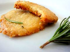 Parmesan Rosemary Savory Shortbread Rounds