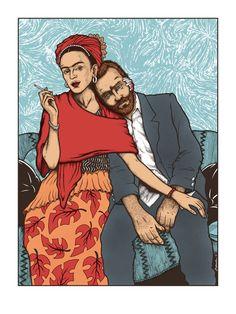 """""""Frida y Vincente"""" Art Print byJermaine Rogers"""