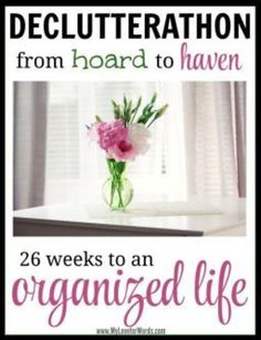 A must do! 26 weeks worth of activities and free printables to achieve an organized life.