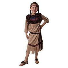 Girls Native American Princess Costume, Size 6/8 *** You can get more details by clicking on the image.