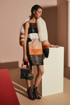 See all the Collection photos from Fendi Autumn/Winter 2017 Pre-Fall now on British Vogue Moda Fashion, Fur Fashion, Fashion Week, Fashion 2017, Couture Fashion, Runway Fashion, Winter Fashion, Fashion Show, Womens Fashion