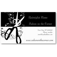 Spa Business Card My Zazzle Products Pinterest Products - Hair stylist business card templates