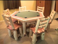 If you have purchased an EZ Log Tenon cutter from Rustic Woodworking, send us a photo of your project and we'll send you a free replacement cutter b lade. Free Logs, Log Furniture, Table Games, Build Your Own, Blade, Chairs, Woodworking, Van, Rustic