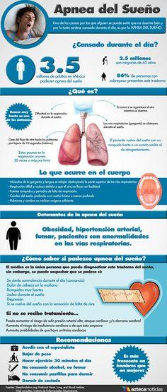 La apnea del sueño. Causas y consecuencias. #salud #apnea #infografia