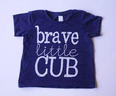 Brave Little Cub Screen Printed Infant Tshirt by DearCub