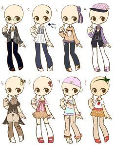 Outfit Adopts Batch 8 :NO. 1 OPEn: by LukasB-adopts on DeviantArt