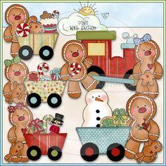 Ginger Friends Christmas Express 1 - NE Cheryl Seslar Clip Art