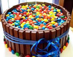 Paige's Pantry: Kit Kat and M Birthday Cake