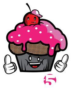 Crew Five Cupcake Tee by Jason Arroyo , via Behance