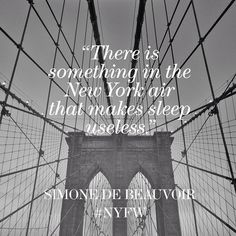 French writer and philosopher Simone de Beauvoir on the magic of New York.  Let NYC inspire you at www.indiereader.com.