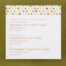 Accommodation Cards- Don't forget to let your guests know where you have taken out room blocks for your event.  Invitations by DM EVENTS & DESIGN www.dmeventsanddesign.com